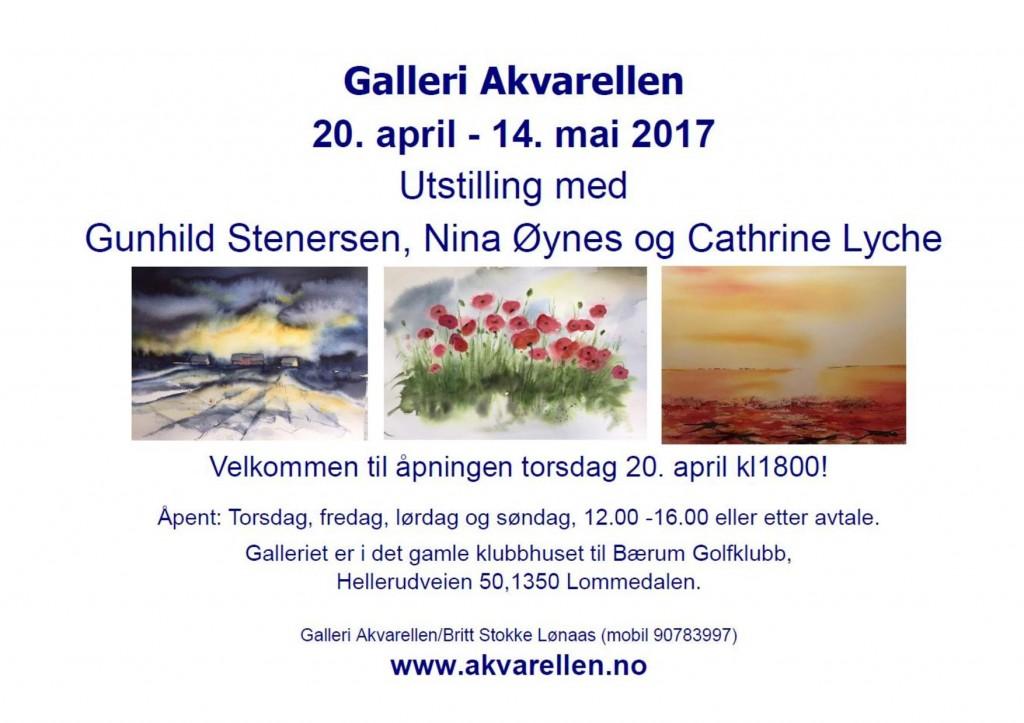 Utstilling Cathrine Nina Gunnhild Galleri Akvarellen 2017-page-001